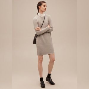 Wilfred oversizes cashmere and silk dress